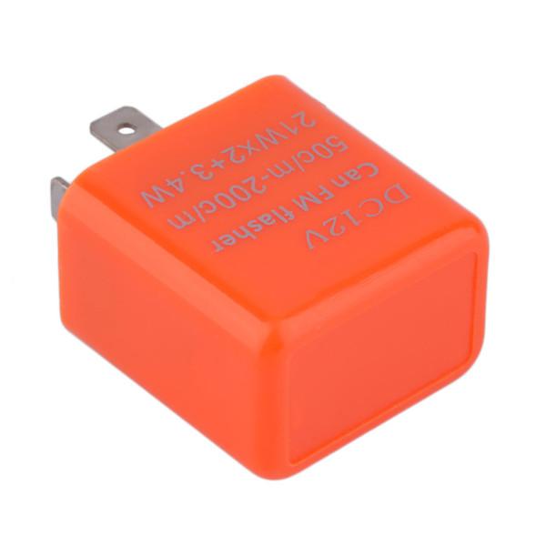 DC12V 12V 2 Pin Frecuencia ajustable LED FM Flash Intermitente intermitente Motocicleta Indicador de señal de giro Moto fija Indicador de luz intermitente Venta caliente