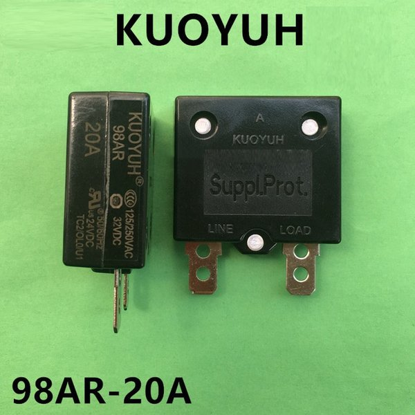 top popular Taiwan KUOYUH 98AR-20A Overcurrent Protector Overload Switch Automatic Reset 2021