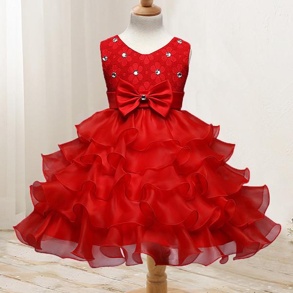 Europe et Amérique du Childrenswear Fleur FILLE robe ENFANTS robe de mariée Fleur Garçons / Filles Fleur princesse jupe Ge