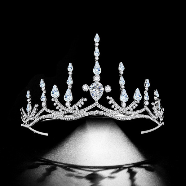 Woodqiqi diadème décoration de mariage cheveux tête accessoires couronne bijoux de cheveux mariée mariée pour les mariées
