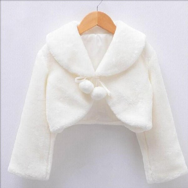 Thickened shawl for girls coat in Weddings and parties Faux fur girls jackets Matching dress in 2-10 years baby girl jacket