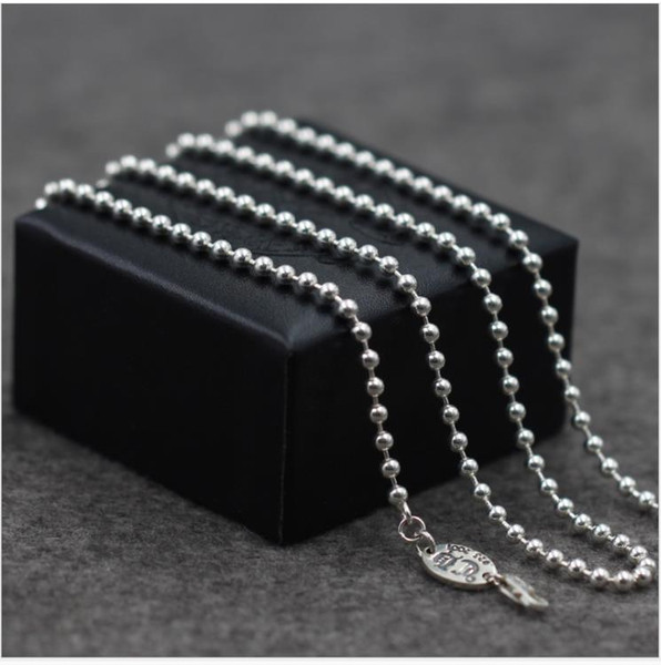 3mm Ball Chain S925 Silver Jewelry Create Long Military Necklace for Men and Women