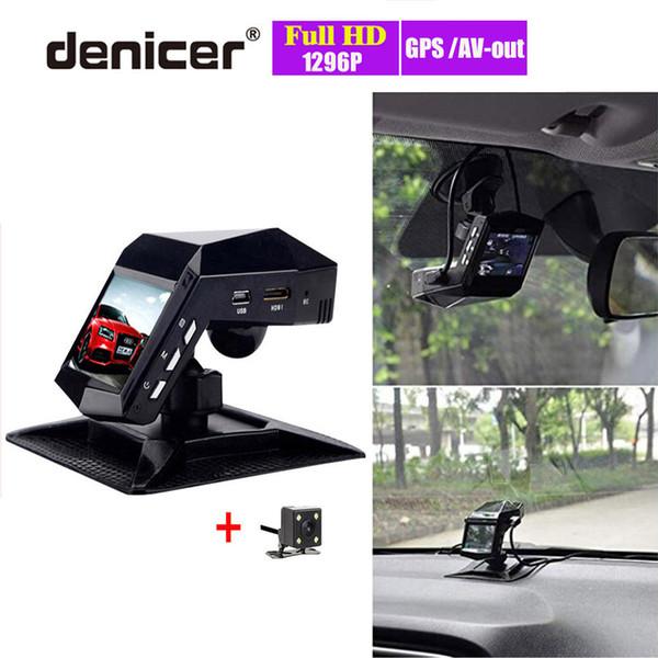 Car DVR Night Vision Air Freshener Video Recorder Full HD 1296P Novatek DVRs Front Rear View Dual Lens Dash Cam with Two Cameras
