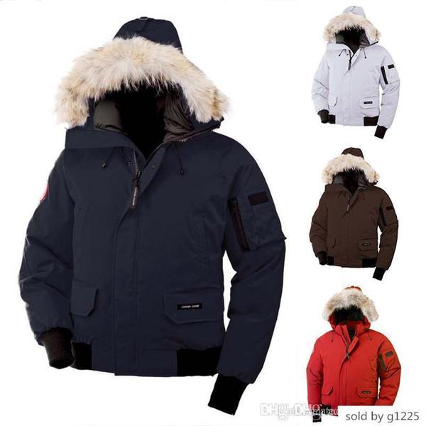 2019-2019 canada men chilliwack bomber parka down jacket 90% white goose fabric outdoor coat hooded warm doudoune dhl ing thumbnail
