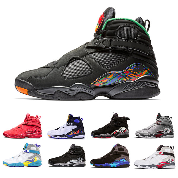 US8-13 Raid 3M Reflective Valentine's Day Red 8 VII 8s men Basketball Shoes Three Peat Aqua Chrome COUNTDOWN PACK outdoor Sports Sneakers