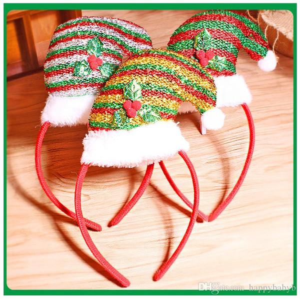 Head Hoop For Christmas Decorations XMAS hat headband Hair hoop Christmas gift factory sale hair band