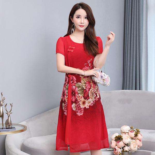 2019 лето девушка платье возвращения на родину розовый подружка невесты свадебные платья улучшенные женщины Qipao Cheongsam элегантные платья выпускного вечера