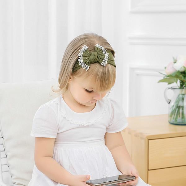 Grenzüberschreitende exklusive Kopfbedeckung Nylon Haarband Kinder weiche, nicht verletzte Haut Bronzing sternenklare Spitze Haarschmuck