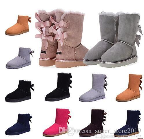 Original WGG women winter boots chestnut black grey pink designer womens snow boots ankle knee boot size 5-10 fast shipping