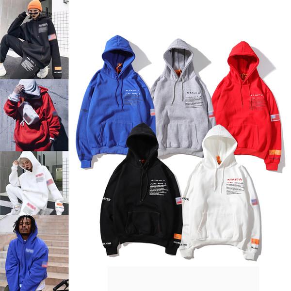 HeronsPreston NASA joint hoodie street fashion brand men designer hoodies Europe United States private custom classic luxury sweatshirt