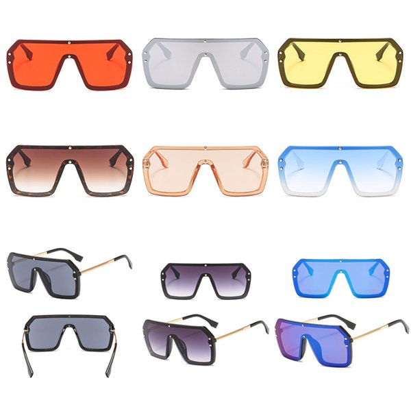 9 colors Girl designer sunglasses Fashion sun glasses Brand Large Frame sunglasses Sea Beach Sand-proof Sunglass Wholesale UJY772