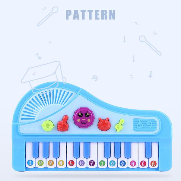 Gros tambours à main électronique piano machine éducative populaire instrument de musique jouet bébé enfants animal piano jouets de développement S19JS226