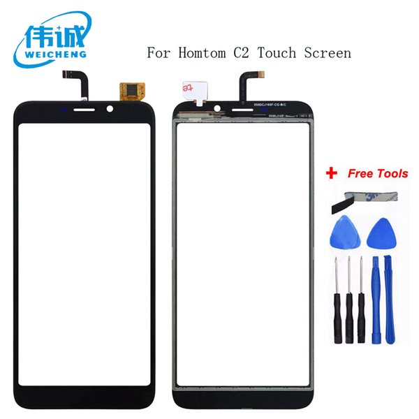 WEICHENG 5.5 inch Top Quality for HOMTOM C2 Digitizer Touch Screen Panel Guarantee Glass Panel Touch Screen +Free Tools