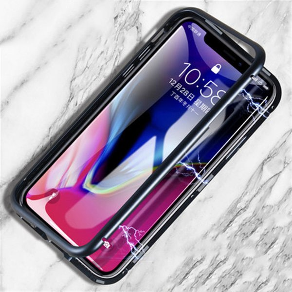 Designer Magnetic Tempered Glass Phone Case for IphoneX/XS XR XSMAX 7P/8P 7/8 6P/6sP 6/6s Popular Full Cover Iphone Case