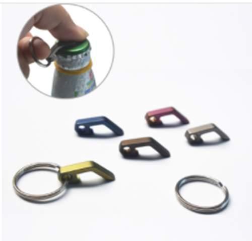 Mini apribottiglie dotate lega EDC mini apribottiglie multifunzionale titanio catena chiave attrezzo 1
