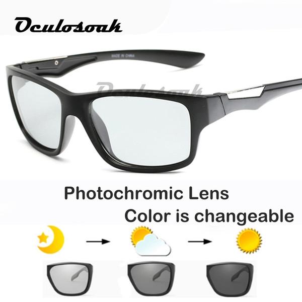 Occhiali da sole fotocromatici 2019 Camaleonte polarizzato Scolorimento Occhiali da sole Occhiali da sole quadrati Uv400 Accessori di guida