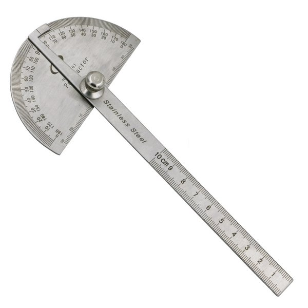 Stainless Steel Protractor Angle Finder Arm Measuring Round Head General Tool Craftsman Rule Ruler Machinist Goniometer Tool