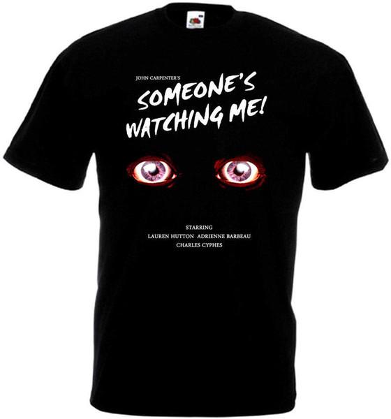 Jemand beobachtet mich Filmplakat Herren lustige T-Shirts Streetwear Harajuku T-Shirts Designer T-Shirt Marke