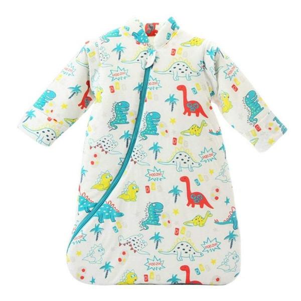 Çanta Uzun Kollu Nest Nightgowns Kalınlaşmış Kış Dinosaur Sleeping Unisex Bebek Sleepsack Giyilebilir Battaniye Pamuk / 3.5 Tog L