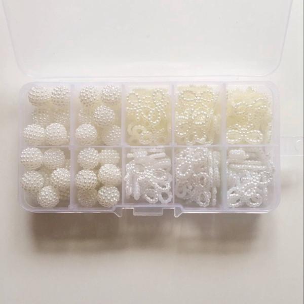 10MM/19MM 160Pcs/Pack Mix Ball Bowknot Plastic Pearl Acrylic Bead Jewellery Loose Beads