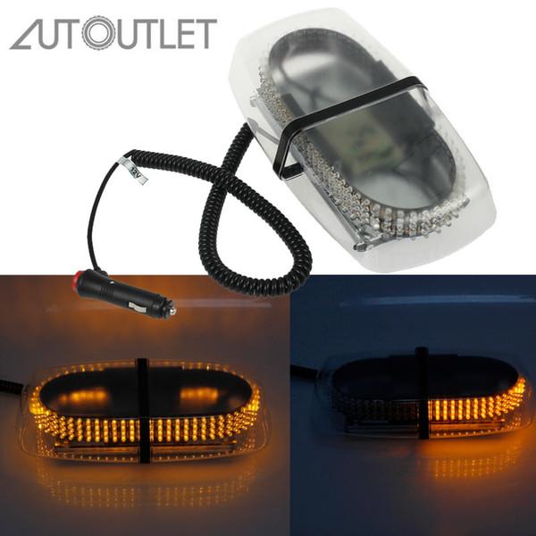 240LED Car Flashing Amber Warning Strobe Light Magnetic Recovery Beacon 12V UK