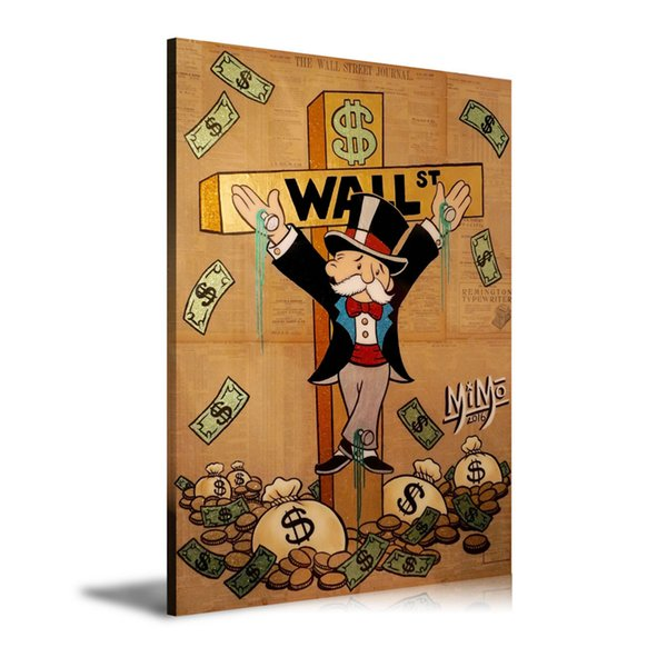 (Unframed/Framed) Alec Monopoly on The Cross,Home Decor HD Printed Modern Art Painting on Canvas 16x24.