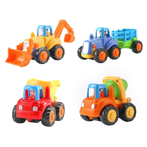 Kids New Cars Plastic Children Mini Engineering Car Model Inertia Dump Truck Tractor Vehicles Toys Kids New Cars Toys Plastic Children