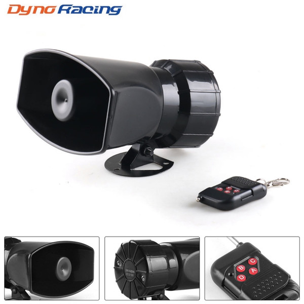 best selling 12V 7 Sounds 130dB Wireless Electronic Siren Loud Car Warning Alarm Police Fire Siren Horn Car ccessories