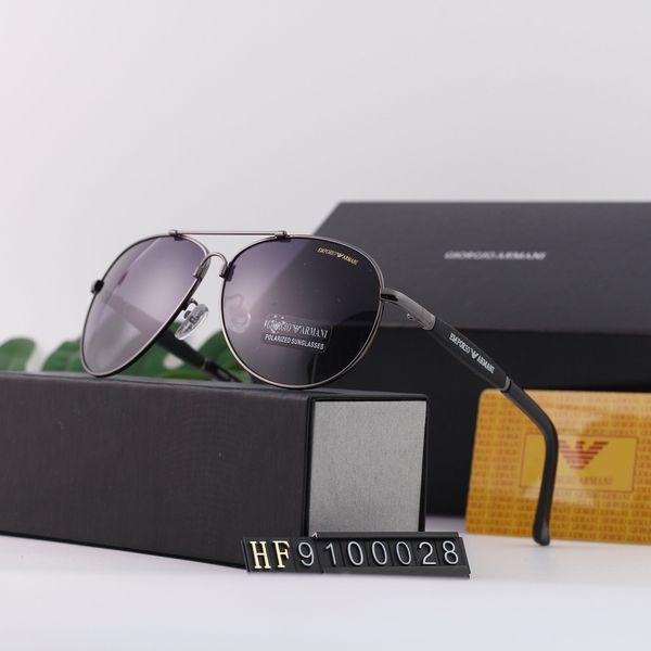 Marka erkek Güneş Gözlüğü Lüks bayan Güneş Gözlüğü A9100028 Mens Womens için Şık Moda Tasarımcısı Güneş Gözlüğü Cam UV400 6 Tarzı