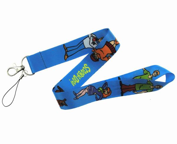 Whol; esale 50 adet Popüler Karikatür Scooby Doo Sapanlar İpi KIMLIK Rozeti Sahipleri Için Mobil Boyun Anahtar zincirleri parti Hediye