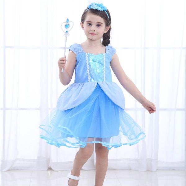 2019 kids clothes Cinderella princess dress fairy girl dress masquerade party tutu