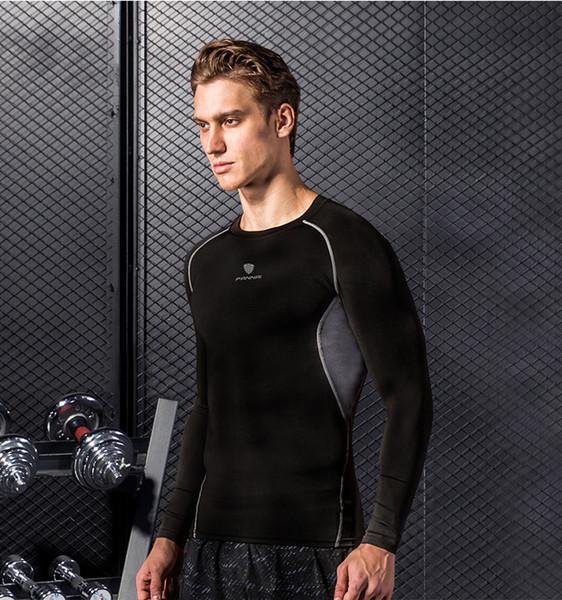 Мужские Спортивные футболки дизайнер моды Quick Dry Clothers 2020 Новый стиль с длинным рукавом Запуск Gym Размер одежды S ~ 3XL Высокое качество одежды