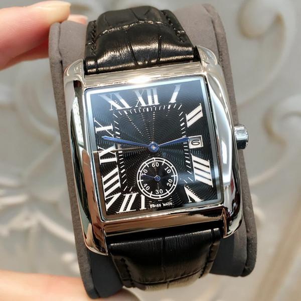 2019 TOP Moda Homem de Luxo / Mulheres de couro preto Assista agradável designer de Aço Inoxidável Senhora Sexy Relógio de Quartzo Relógio de Alta qualidade transporte da gota