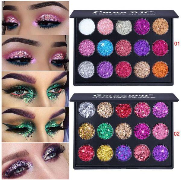 Inicio Salud Belleza Maquillaje Ojos Sombra de ojos Detalles del producto CmaaDu Maquillaje Paletas de sombras de ojos 15 Lentejuelas de diamantes de colores Brillo brillante Ey