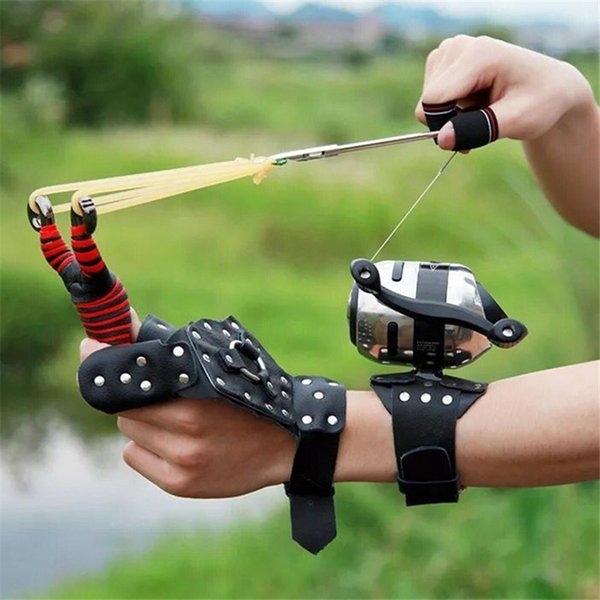 2019 new high velocity for fishing and hunting fishing gear slingsshooting catapult + fish darts crossbow bolt thumbnail