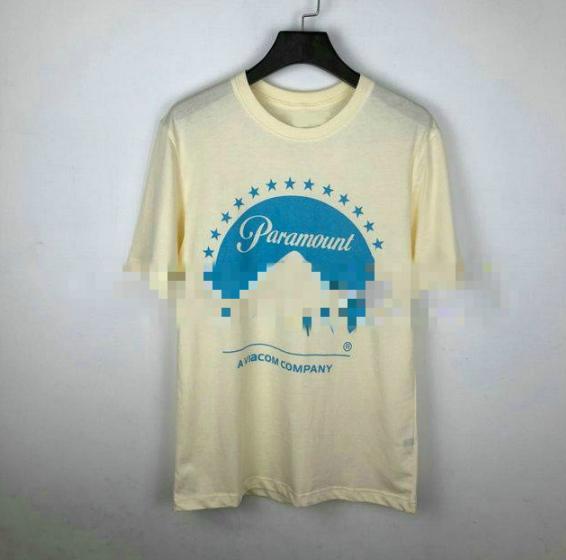 Diseñador de moda ropa de primavera / verano para hombre camiseta beige Paramount estrella camiseta de manga corta