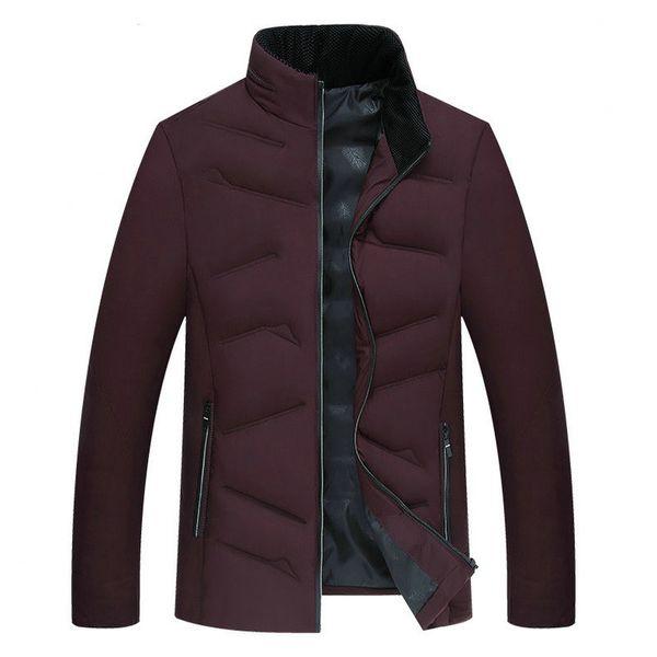 Chaqueta de invierno de moda para hombres Abrigo de invierno de otoño cálido y delgado informal Ropa de regalo de padre para hombres