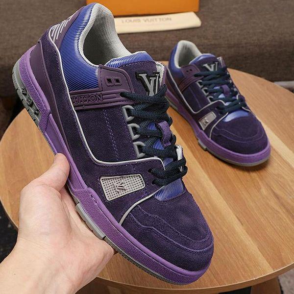 Moda Erkek Ayakkabı Deri Casual Footwears Zapatos De Hombre Dantel -Up Açık Rahat Moda Trainer Sneaker Lüks Stil Chaussures