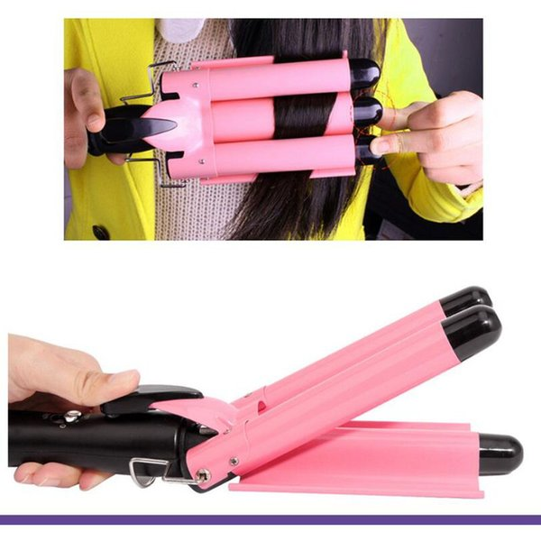 Professional Hair Curling Iron Ceramic Triple Barrel Hair Curler Waver Styling Tools 110-220V High Quaity Curling Wand