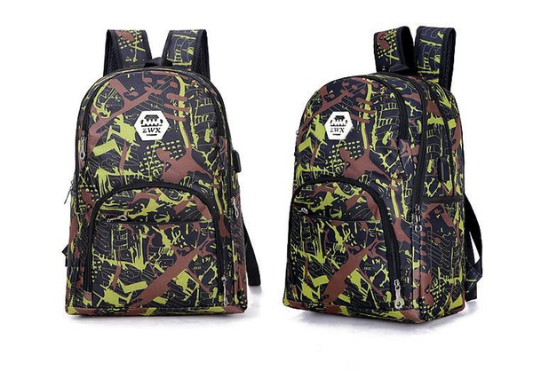best selling 2020 Best outdoor bags camouflage travel backpack computer bag Oxford Brake chain middle school student bag many colors