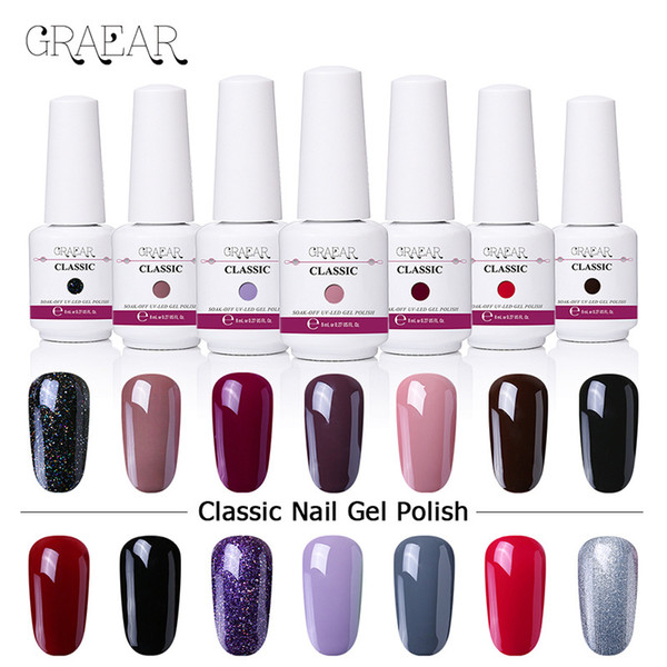 best selling GRAEAR 8ml Nail Polish Varnish Metallic Mirror Effect Matte Dull Nude Series Polish Manicure Nail Art Lacquer Tip Color
