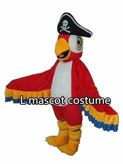 Pirates parrot mascot costume parrot bird cartoon costume adult size free shipping
