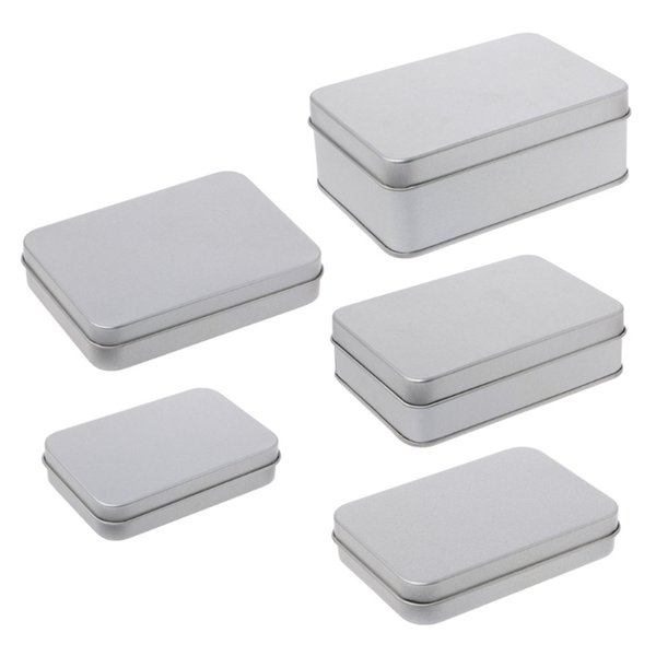 10PCS Small Metal Tin Silver Storage Box Case Organizer For Candy Key Storage Box Cosmetic Container