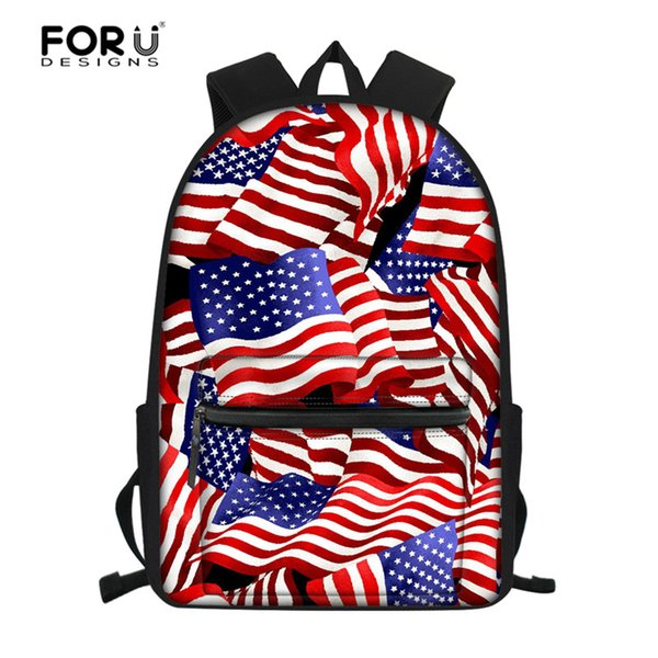 FORUDESIGNS UK/USA Flag Backpack Kids Toddler School Bags for Girls Children Primary Middle Schoolbag Women Daily Backpack
