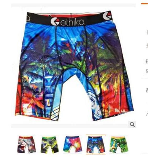 best selling New Designer Ethika Mens Underwear Boxer Premium Cotton Boxers Men Underwear Sexy Breathable Underpants Beach Cuecas Masculina Boxers