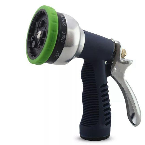 top popular Garden Multifunction 9 Pattern Water Gun Household Watering Nozzle Sprinkler Car Wash Spraying Gun 2021