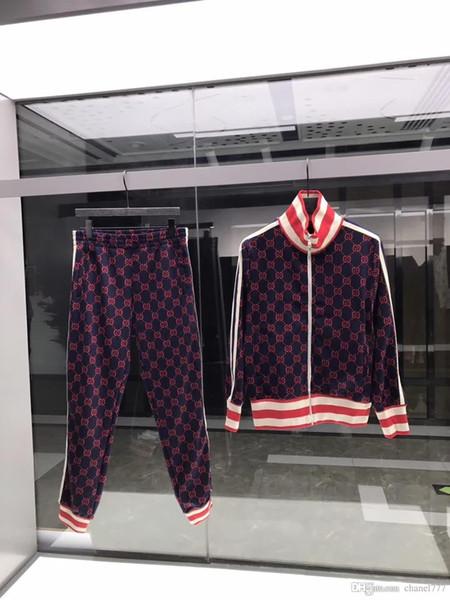 Herbst neue Mens Luxus-Designer-Briefdruck sweatsuit Trainingsanzüge ~ Tops Herren Training Jogging Schweiß Trainingsanzüge bhgyt