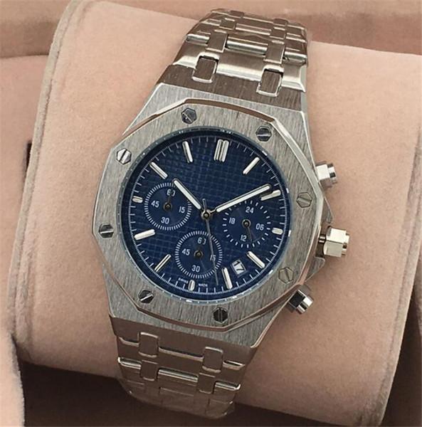 Livre DHL Todos Subdials Trabalho Mens cronógrafo de Aço Inoxidável de Quartzo Relógio de Luxo relogies Marca para homens relojes Relógios de Pulso