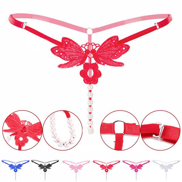 Erwachsene Frauen Schritt Flirt Slips Erotik Fetisch Bdsm Spiel Klitoris Perle Vagina Stimulator Sexy BDSM Werkzeuge Schmuck Werkzeug