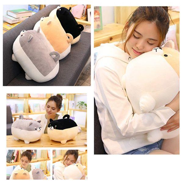 40 / 50cm gordo lindo Corgi regalo almohadilla de la historieta del perro de juguete de felpa suave relleno KawaiiChai encantador para los niños toysT2G5046